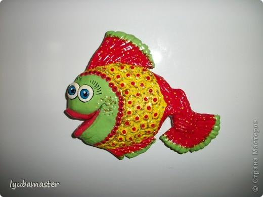 Поделка, изделие Лепка: рыбы Тесто соленое Отдых. Фото 23
