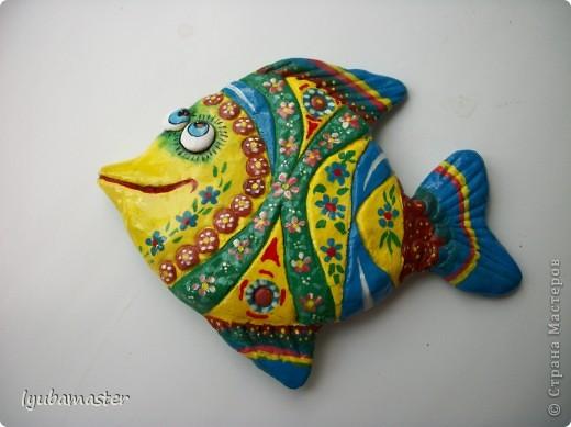Поделка, изделие Лепка: рыбы Тесто соленое Отдых. Фото 24