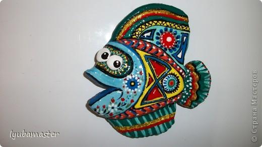 Поделка, изделие Лепка: рыбы Тесто соленое Отдых. Фото 13
