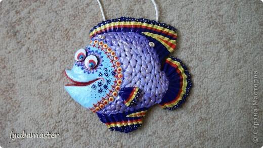 Поделка, изделие Лепка: рыбы Тесто соленое Отдых. Фото 16