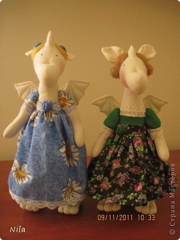 Куклы, Мастер-класс Шитьё: Две драноночки и выкройка Ткань Новый год. Фото 1