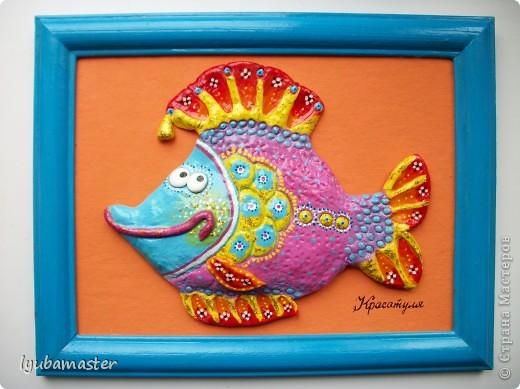 Поделка, изделие Лепка: рыбы Тесто соленое Отдых. Фото 25