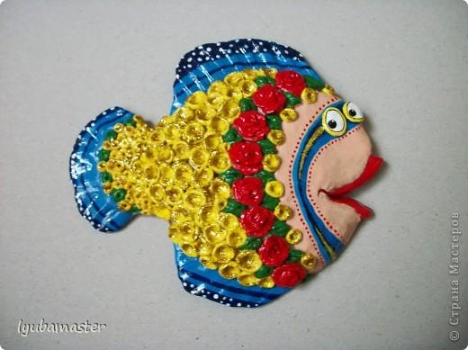 Поделка, изделие Лепка: рыбы Тесто соленое Отдых. Фото 26