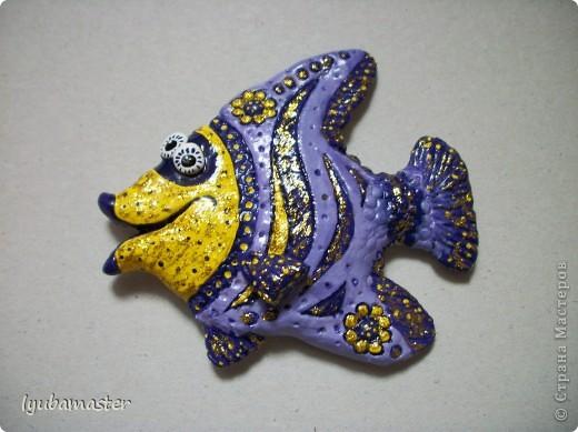Поделка, изделие Лепка: рыбы Тесто соленое Отдых. Фото 27
