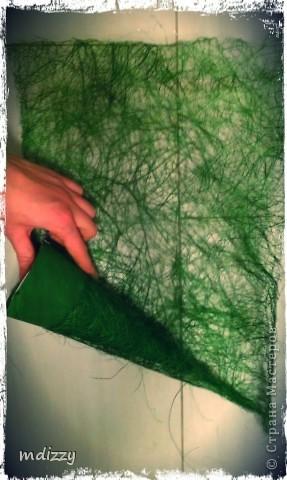 Поделка, изделие Моделирование: Вуа-Ля Ёлочка из сизаля!!! мини МК Бусинки, Гипс Новый год, Рождество. Фото 4