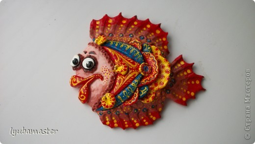 Поделка, изделие Лепка: рыбы Тесто соленое Отдых. Фото 29