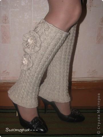 Вязание спицами: Гетры