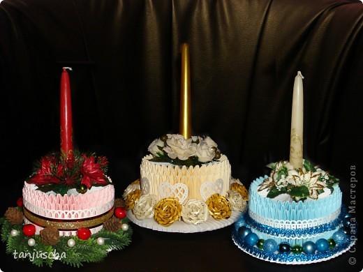 Мастер-класс, Поделка, изделие Оригами модульное: Свечи.Модульное оригами +мини МК Бумага Новый год, Свадьба. Фото 1