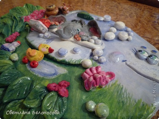 Поделка, изделие Лепка: Отдыхать удобней в ванне........... Тесто соленое Отдых. Фото 4