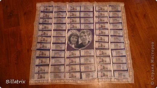 Поздравления к подарку одеяло из денег