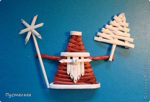 Мастер-класс, Поделка, изделие Плетение: Морозко Бумага газетная Новый год. Фото 1