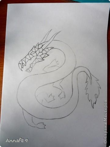 Мастер-класс Квиллинг: К наступающему году дракона Бумага Новый год. Фото 3