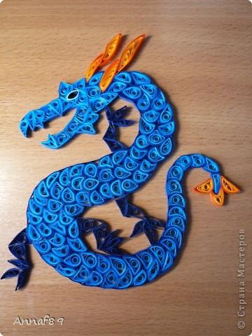 Мастер-класс Квиллинг: К наступающему году дракона Бумага Новый год. Фото 10