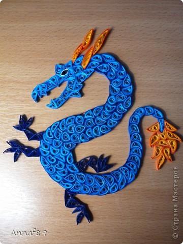 Мастер-класс Квиллинг: К наступающему году дракона Бумага Новый год. Фото 11