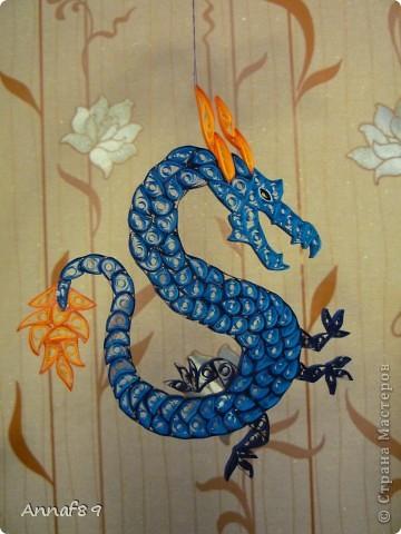 Мастер-класс Квиллинг: К наступающему году дракона Бумага Новый год. Фото 12
