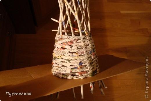 Поделка, изделие Плетение: Дуб  Бумага газетная. Фото 5