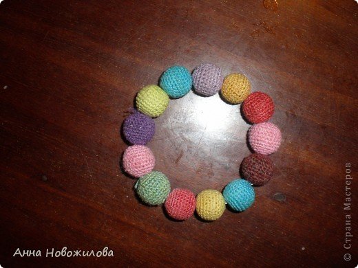 Украшение Вязание крючком: браслет Нитки.  Фото 2.