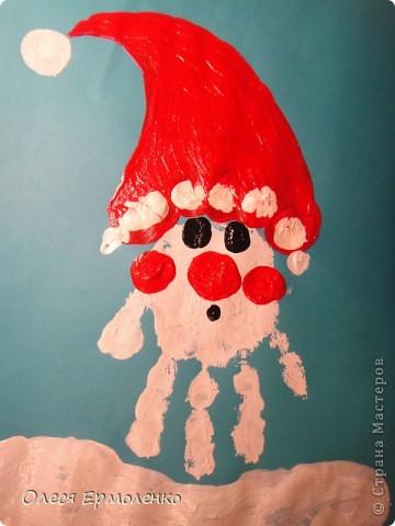 Поделки зимы красками ребенок 3 года