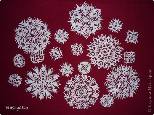 Мастер-класс, Украшение Вырезание: МК Снежинки Бумага Новый год. Фото 1