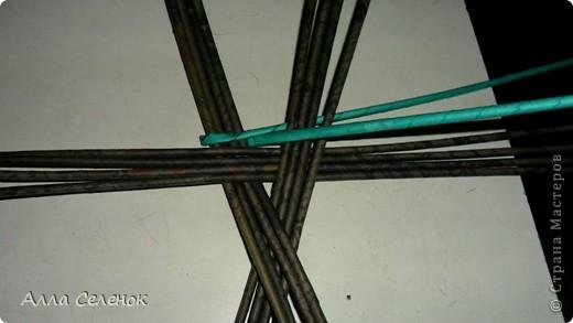 Мастер-класс Плетение: Плетение треугольного дна+МК к нему. Бумага газетная, Трубочки бумажные. Фото 2
