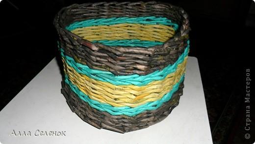 Мастер-класс Плетение: Плетение треугольного дна+МК к нему. Бумага газетная, Трубочки бумажные. Фото 10