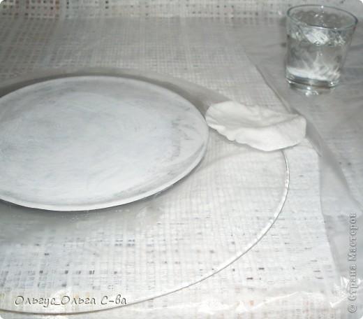 Мастер-класс Декупаж: Мастер-класс по обратному декупажу тарелки