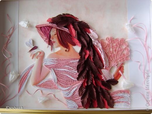 Картина, панно Квиллинг: Розовые грезы Бумага. Фото 1