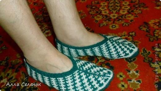 Гардероб, Мастер-класс Вязание спицами: Вязание тапочек-следочков. Пряжа. Фото 14