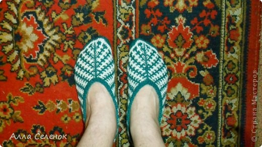 Гардероб, Мастер-класс Вязание спицами: Вязание тапочек-следочков. Пряжа. Фото 15