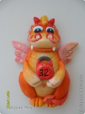 Мастер-класс Лепка: Магниты драконы Тесто соленое Новый год. Фото  3