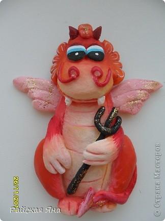 Мастер-класс Лепка: Магниты драконы Тесто соленое Новый год. Фото  2