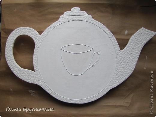 """Мастер-класс, Поделка, изделие Декупаж: Часы"""" Приглашаем на чай"""" Салфетки, Скорлупа яичная, Фанера. Фото 9"""