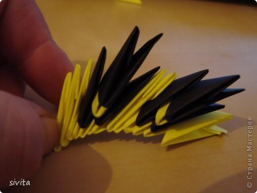 Поделка, изделие Оригами модульное: Дракон. Символ наступающего года! Бумага Новый год. Фото 10
