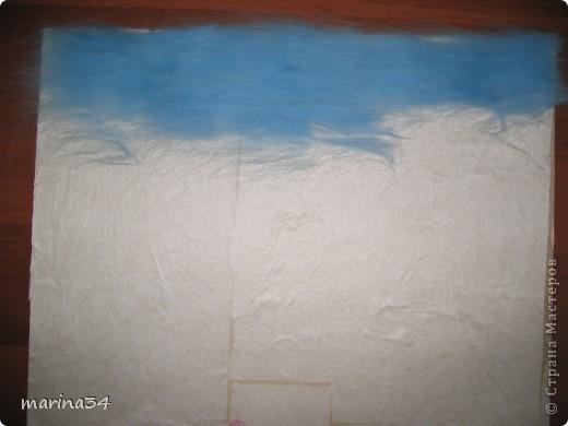 Мастер-класс Валяние (фильцевание): лодка,картина из шерсти Шерсть. Фото 2