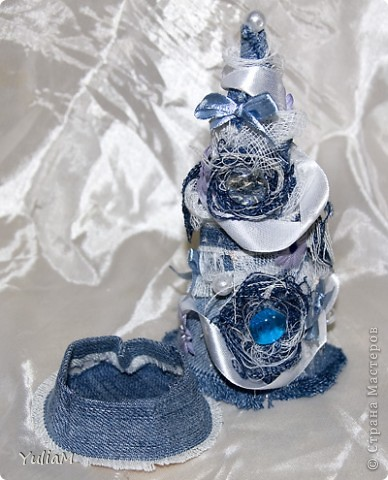 Мастер-класс, Открытка, Скрапбукинг Ассамбляж: Старые джинсы - великая вещь! Новый год. Фото 4