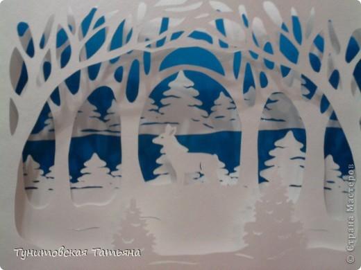 Многослойные открытки зима 13