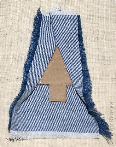 Мастер-класс, Открытка, Скрапбукинг Ассамбляж: Старые джинсы - великая вещь! Новый год. Фото 9