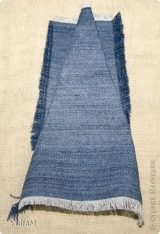 Мастер-класс, Открытка, Скрапбукинг Ассамбляж: Старые джинсы - великая вещь! Новый год. Фото 10