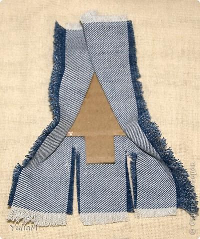 Мастер-класс, Открытка, Скрапбукинг Ассамбляж: Старые джинсы - великая вещь! Новый год. Фото 11