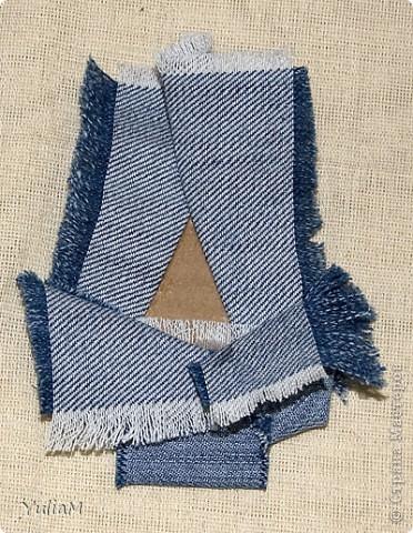 Мастер-класс, Открытка, Скрапбукинг Ассамбляж: Старые джинсы - великая вещь! Новый год. Фото 12