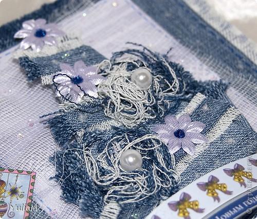 Мастер-класс, Открытка, Скрапбукинг Ассамбляж: Старые джинсы - великая вещь! Новый год. Фото 6