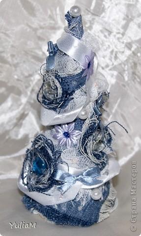Мастер-класс, Открытка, Скрапбукинг Ассамбляж: Старые джинсы - великая вещь! Новый год. Фото 2