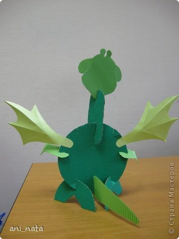 Мастер-класс Аппликация: Бумажный дракончик. Бумага Новый год.  Фото 5