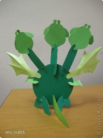 Мастер-класс Аппликация: Бумажный дракончик. Бумага Новый год.  Фото 8
