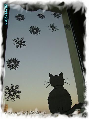Интерьер, Сказка, Украшение Вырезание, Вырезание силуэтное: Украшаем окна к Новому году или Новогодняя сказка на окне Бумага, Клей Новый год. Фото 11