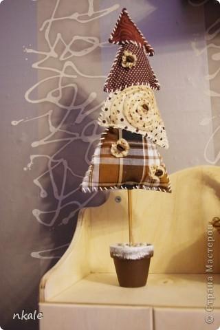 Мастер-класс Шитьё: Мастер-класс от Nkale: Текстильная кофейная елочка Ткань Новый год. Фото 1