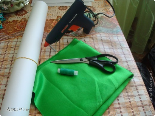 Мастер-класс Шитьё: МК елочки Ткань Новый год. Фото 2