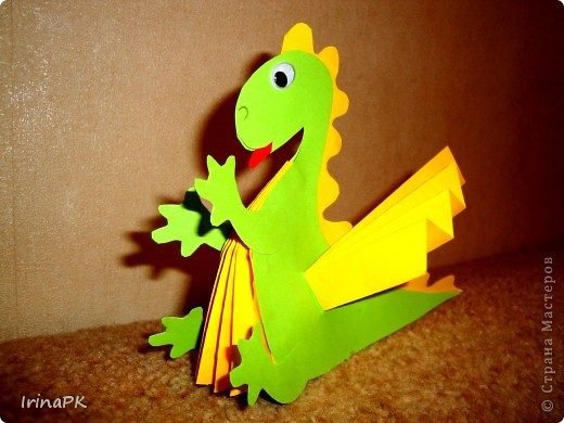 Игрушка, Мастер-класс Бумагопластика: Мои Дракоши. Мастер-класс + шаблоны. Бумага Новый год. Фото 2