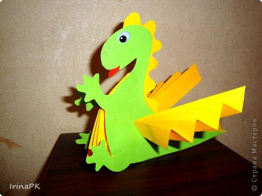 Игрушка, Мастер-класс Бумагопластика: Мои Дракоши. Мастер-класс + шаблоны. Бумага Новый год. Фото 3