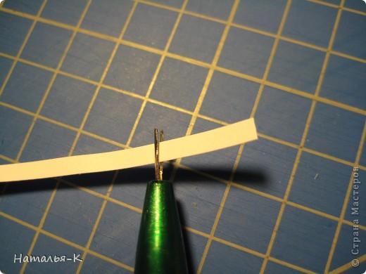 Мастер-класс Квиллинг: Снежинки. Бумажные полосы Новый год. Фото 9